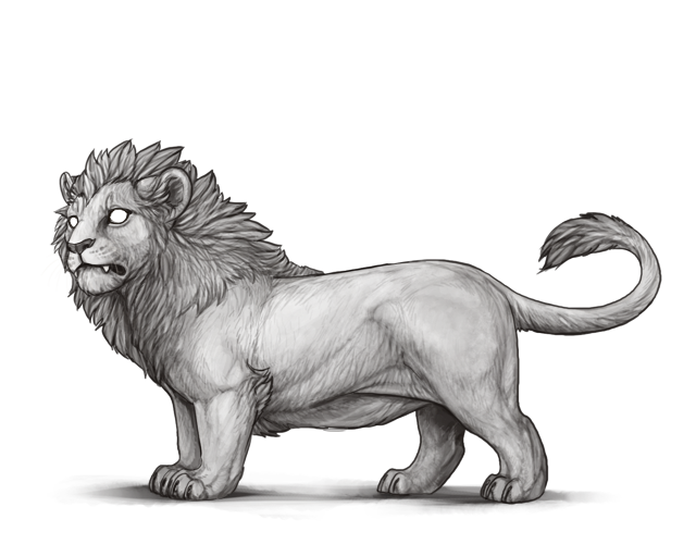Line Art Lion : I m looking lions with mutations only to look lioden