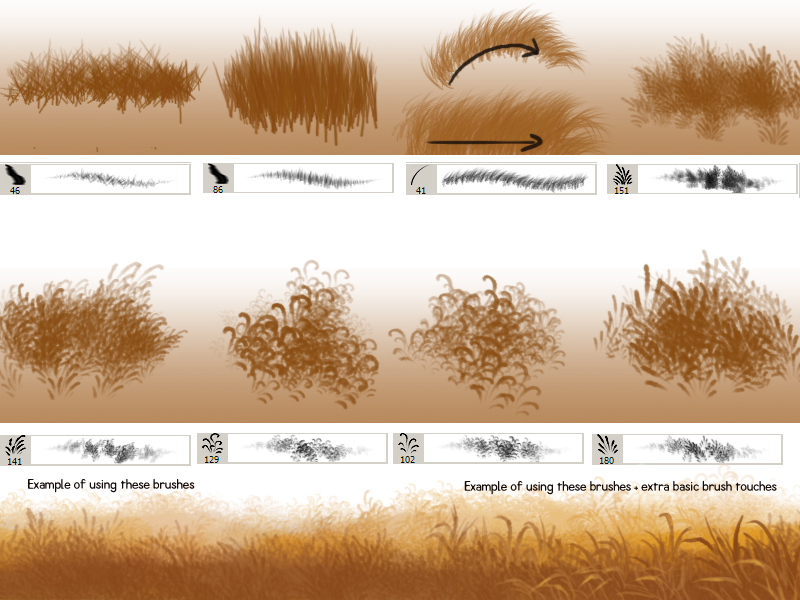 Firealpaca Grass Brush