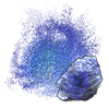 Dust: Tanzanite applicator.